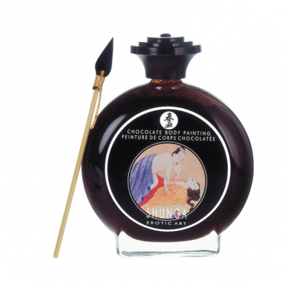 Вкусная краска по телу Shunga, черный шоколад