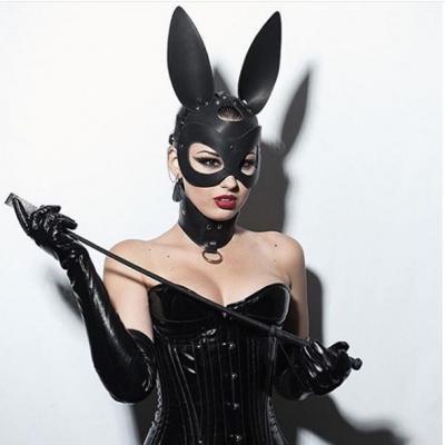 Кожанная маска зайца ручной работы