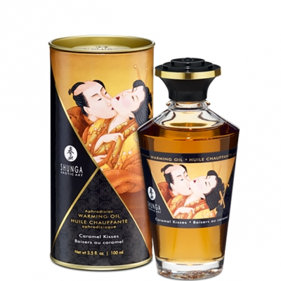 Согревающее масло для оральных ласк Shunga Aphrodisiac карамель