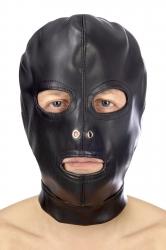 Закрытая маска Fetish Tentation Open mouth and eyes BDSM hood