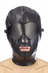 Закрытая маска Fetish Tentation BDSM hood with removable mask
