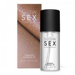 Їстівне зігріваючий масажне маслоWARMING MASSAGE OIL Slow Sex Bijoux Indiscrets
