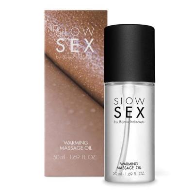 Cъедобное согревающее массажное масло WARMING MASSAGE OIL Slow Sex Bijoux Indiscrets (Испания)