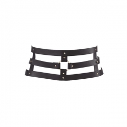 Портупея Bijoux Indiscrets MAZE - Wide Belt and Restraints Black