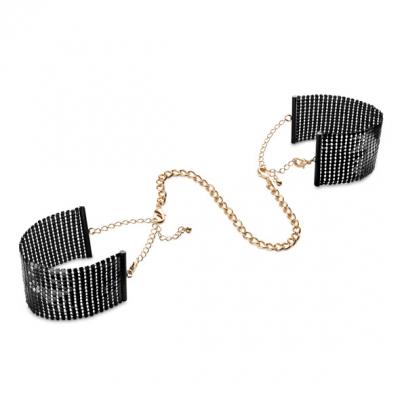 Металические наручники, Desir Metallique Black, Bijoux