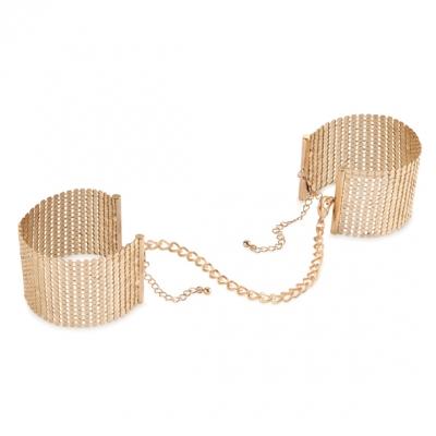 Металические наручники, Desir Metallique Handcuffs Gold, Bijoux