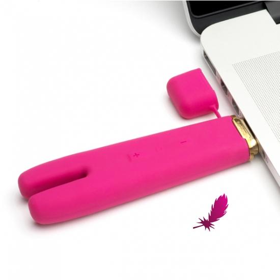 Вибратор CRAVE Duet Flex Vibrator Pink - фото3