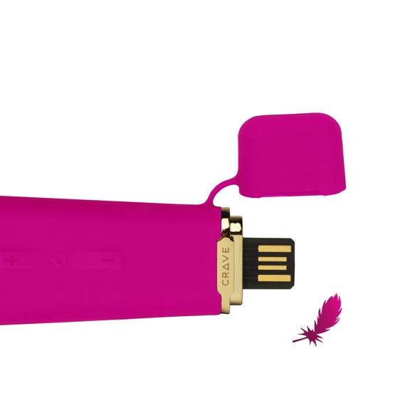 Вибратор CRAVE Duet Flex Vibrator Pink - фото4