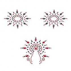 Интимные наклейки PETITS JOUJOUX - GLORIA SET BLACK & RED