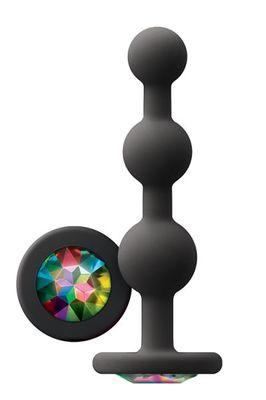 Анальная пробка с кристаллом GLAMS NS Novelties