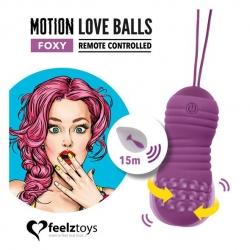 Вагінальні кульки з массажними та віброрухами FeelzToys Motion Love Balls