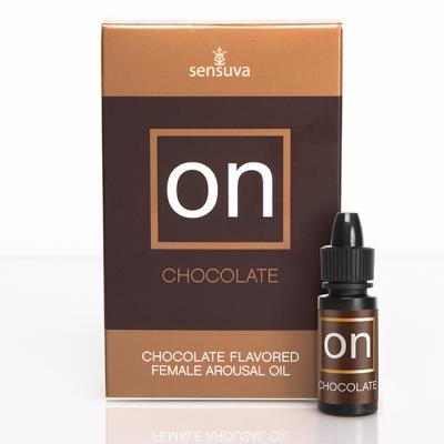 Возбуждающее масло с ароматом шоколада для клитора Sensuva