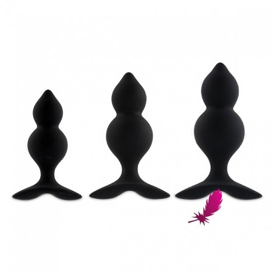 Набір анальних пробок Feelztoys - Bibi Twin Butt Plug Set 3 PCS - фото2