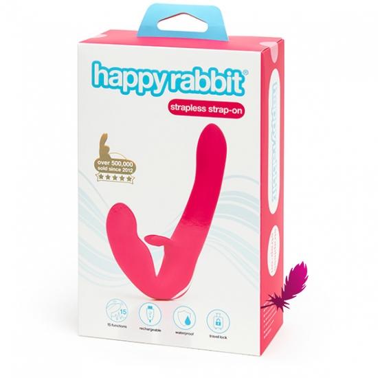 Безремневий вiбруючий страпон Happy Rabbit - фото4