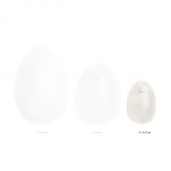 Вагiнальне яйце з натурального каменю Yoni Egg Белый Кварц (S)