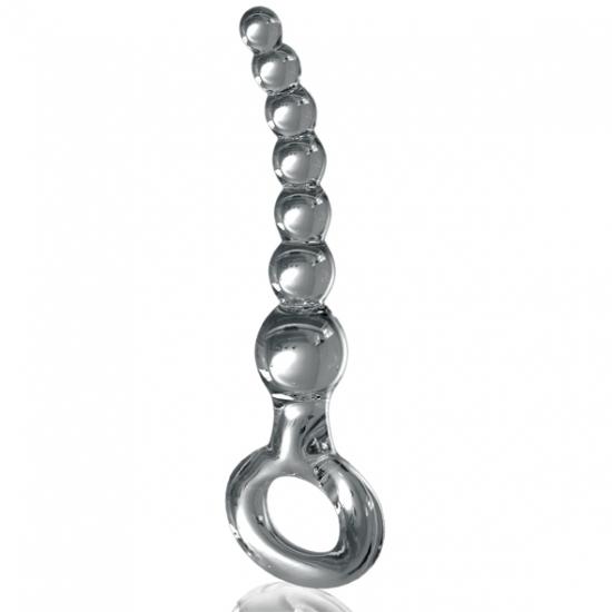 Стеклянные анальные шарики Icicles  No. 67 - фото0