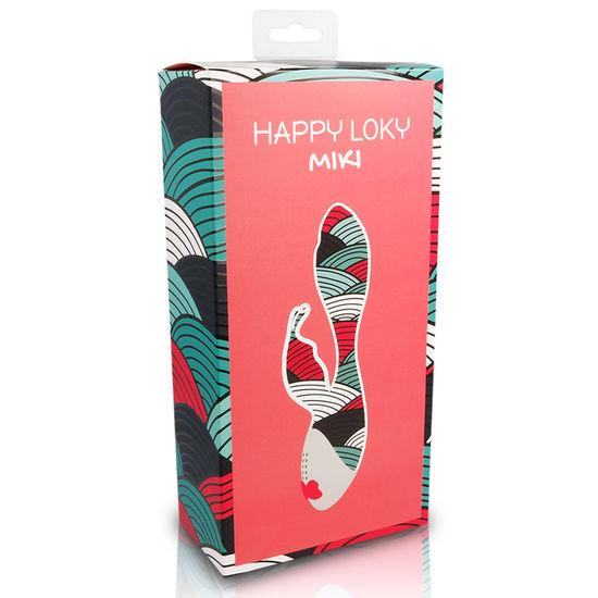 Вибратор кролик с увеличенной головкой HAPPY LOKY MIKI - фото1