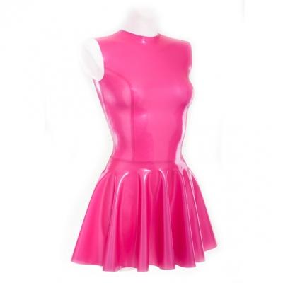 Платье из латекса с пышной юбкой
