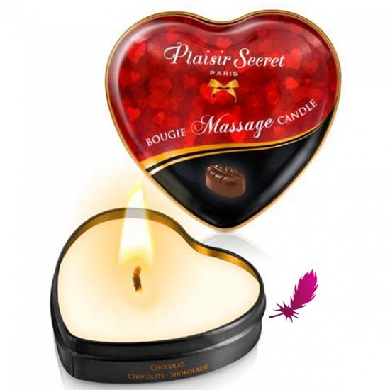 Массажные свечки сердечко Plaisirs Secrets - фото