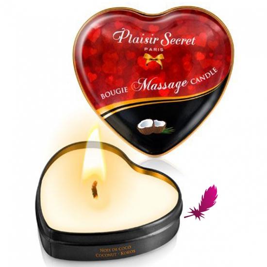 Массажные свечки сердечко Plaisirs Secrets - фото5