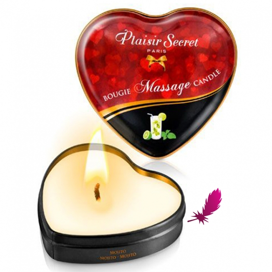 Массажные свечки сердечко Plaisirs Secrets - фото7