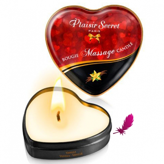 Массажные свечки сердечко Plaisirs Secrets - фото2