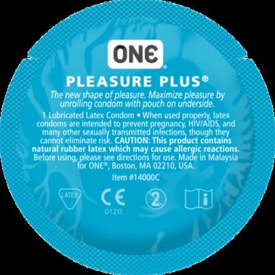Презерватив увеличенный One Pleasure Plus