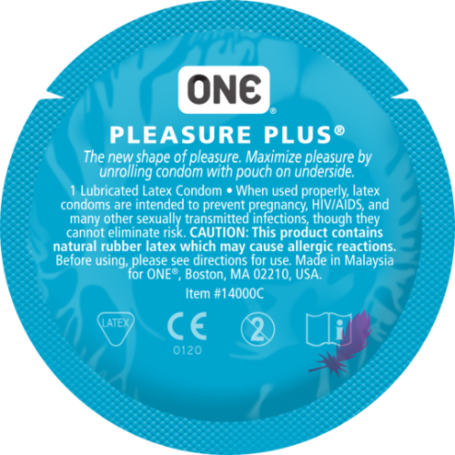 Презерватив увеличенный One Pleasure Plus - фото0