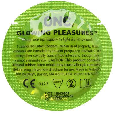 Презерватив светящийся One Glowing Pleasures