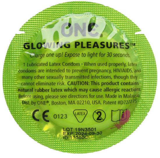 Презерватив светящийся One Glowing Pleasures - фото0