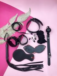 БДСМ набір з круглою ляскалкою (8 предметів)