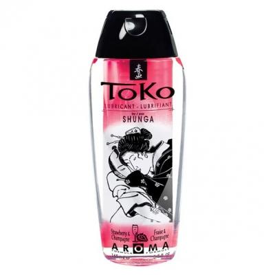 Ароматная смазка Shunga Toko Aroma шампанское и клубника
