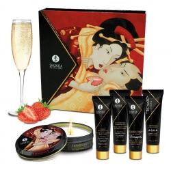 Подарунковий набір Shunga Geishas Secret Kit Полуниця