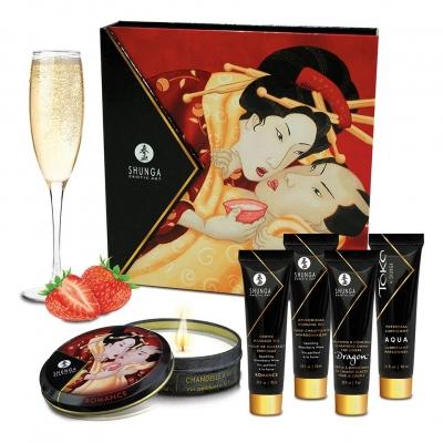 Подарочный набор Shunga Geishas Secret Kit, клубника