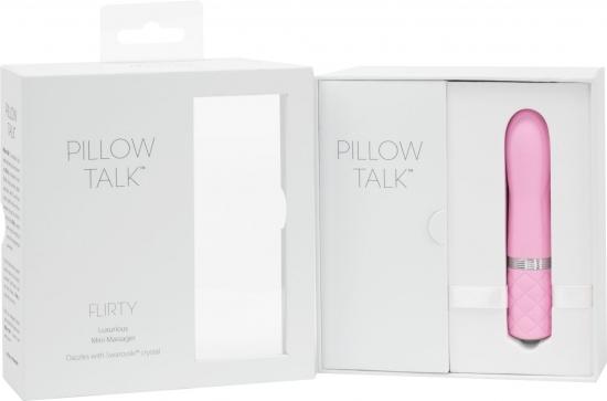 Вибратор PILLOW TALK - Flirty Pink с кристаллом Сваровски - фото7
