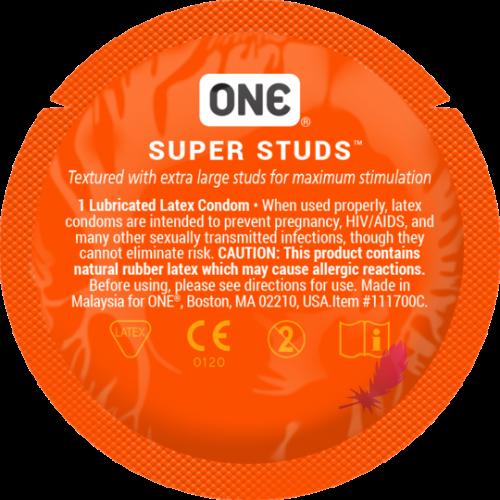 Презерватив с точками One Super Studs - фото0