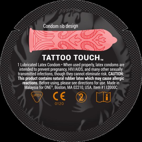 Презерватив рельефный  ONE Tattoo Touch - фото2