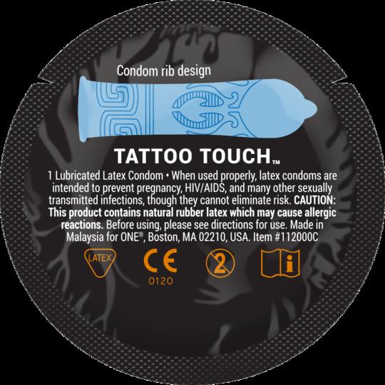 Презерватив рельефный  ONE Tattoo Touch - фото3