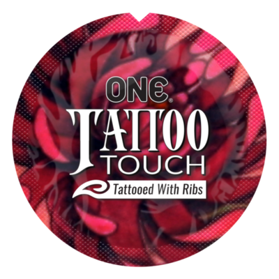 Презерватив рельефный  ONE Tattoo Touch