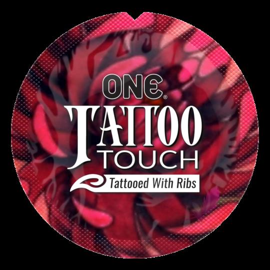 Презерватив рельефный  ONE Tattoo Touch - фото0